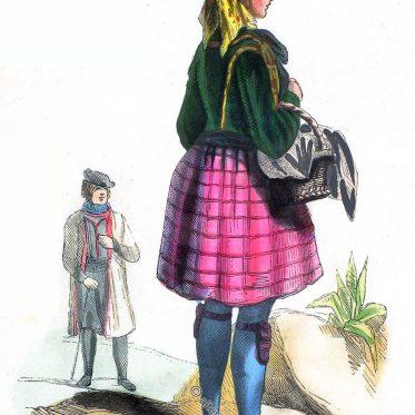 Sachsen. Frau aus Altenburg, wendischer Bauer.
