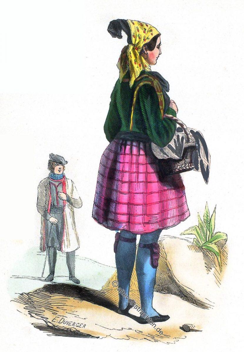 Wendischer Bauer (Sorbe) und Frau aus Altenburg, Sachsen.