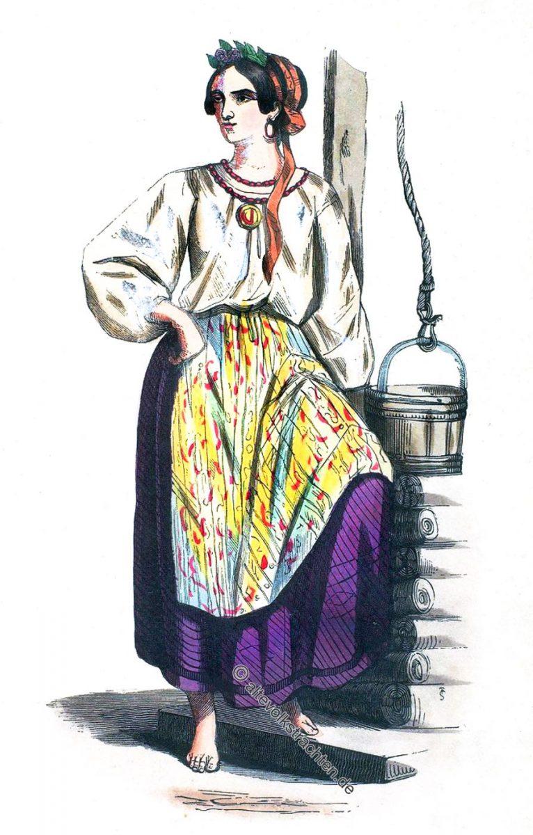 Femme de l'Ukraine. Russie d'Europe. - Woman of Ukraine. European Russia.  Frau der Ukraine. Europäisches Russland.