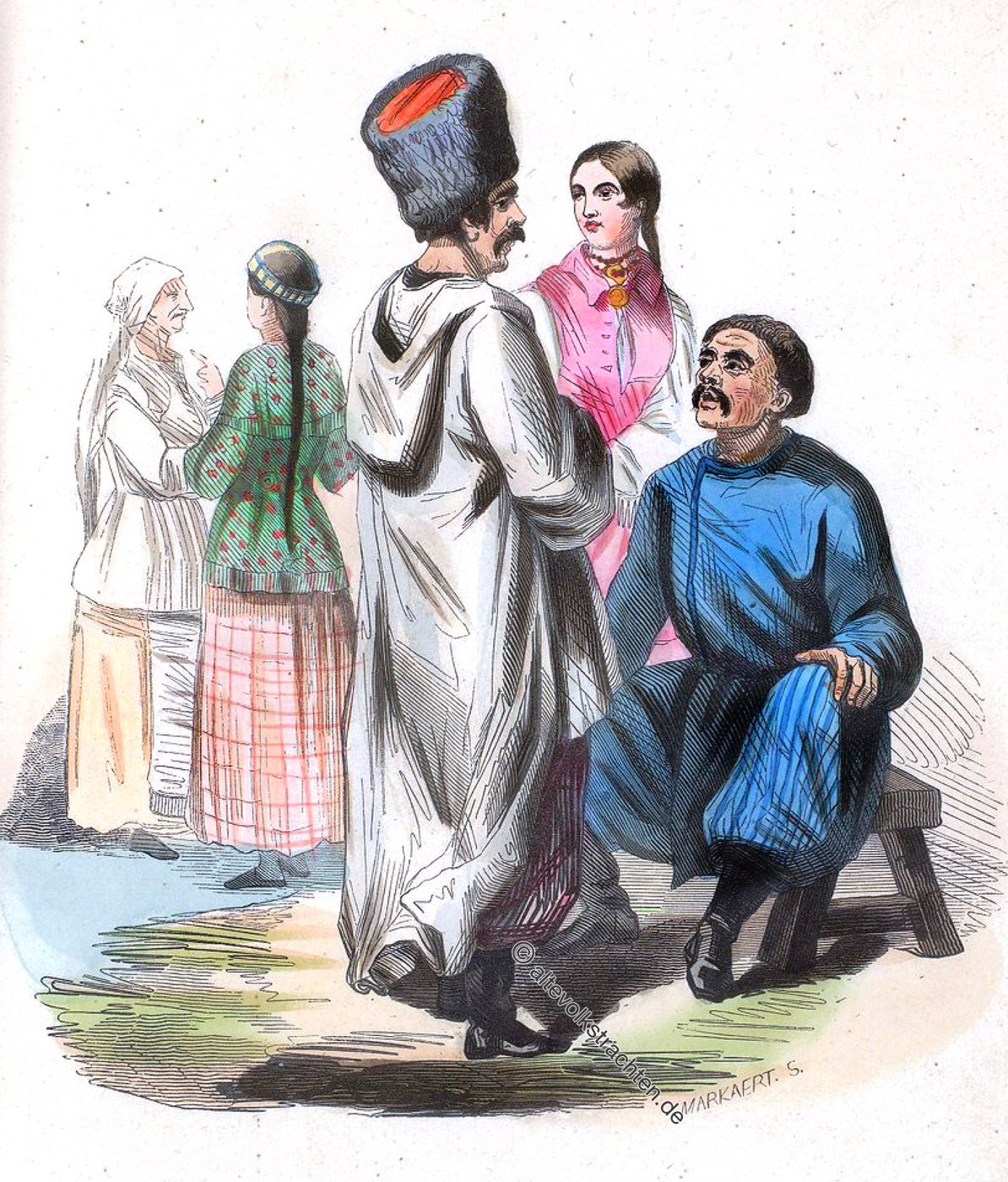 Kostüme, Tracht, Bekleidung, Ukraine, Kleinrussland, Trachten, Auguste Wahlen