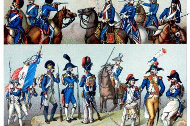 Frankreich, Militär, Uniformen, Republik, Auguste Racinet, französische Revolution, Soldaten
