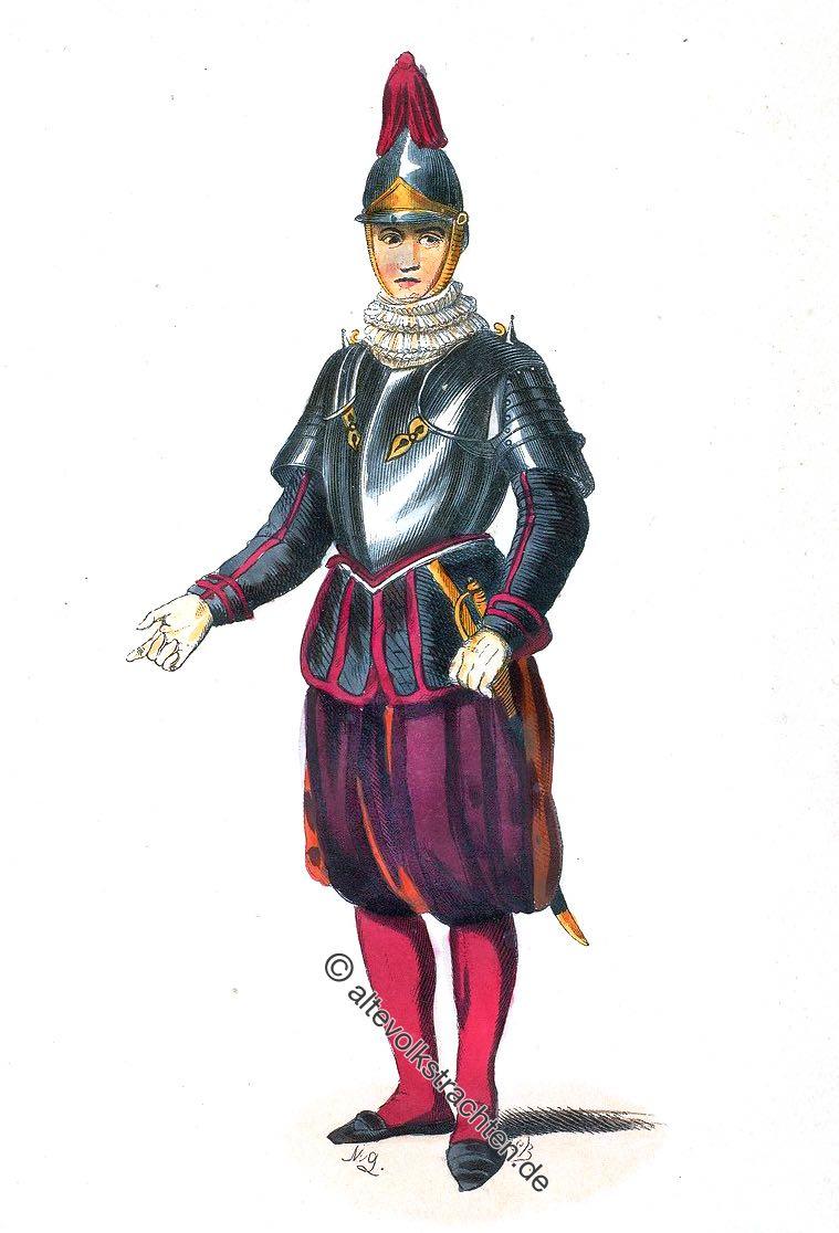 Vatikanische Papstgarde, Uniform, Sergeant, Sergent Suisse, Schweizer Garde, Swiss Guard