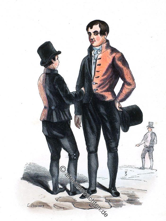 Waisenkinder in Amsterdam um 1840.