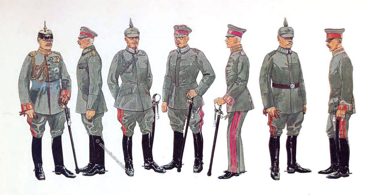 General-Adjutant, General der Infanterie, Flügel-Adjutant, Gr. Generalstab Major, Kriegsministerium Major, Militär-Kabinett Major, Persönlicher Adjutant der Prinzen