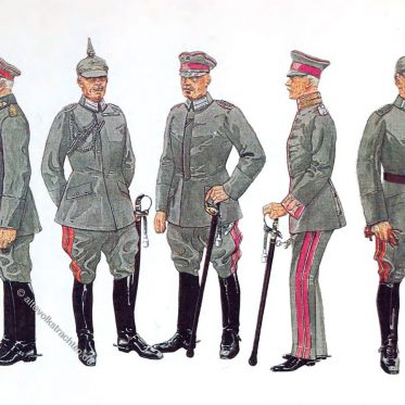 Deutschlands Armee in feldgrauer Kriegs- und Friedens-Uniform 1916.