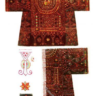 Besticktes Bornu Frauenhemd aus Nigeria.