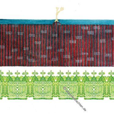Sudan. Hausa Hosen. Traditionelle Afrika Tracht.
