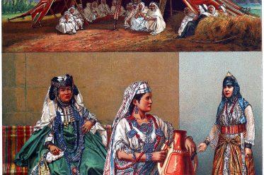 Afrika, arabische, Algerien, Frauentrachten, Maghreb, nomadisches Zelt,