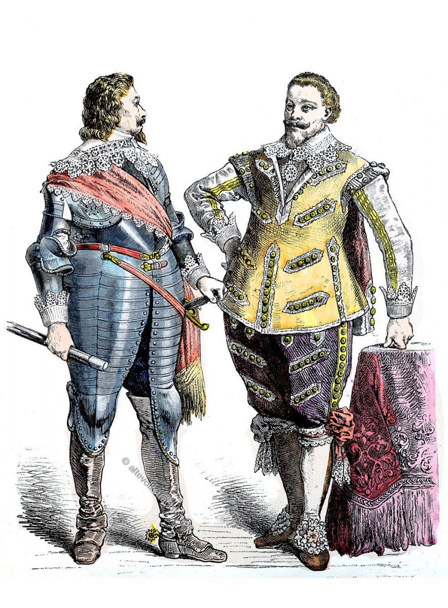 Kostüme, Barock, Fürsten, Deutschland, 17. Jahrhundert, dreissigjähriger Krieg, 1625, 1640,