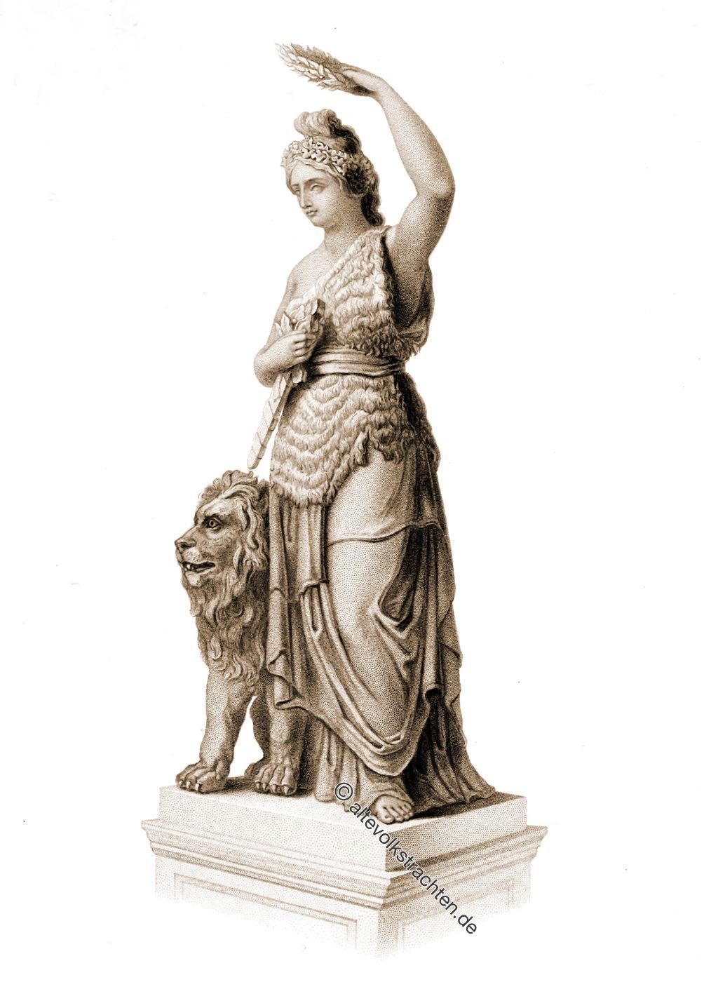 Patrona Bavariae, Bavaria, München, Munich, Statue, Ludwig Schwanthaler,
