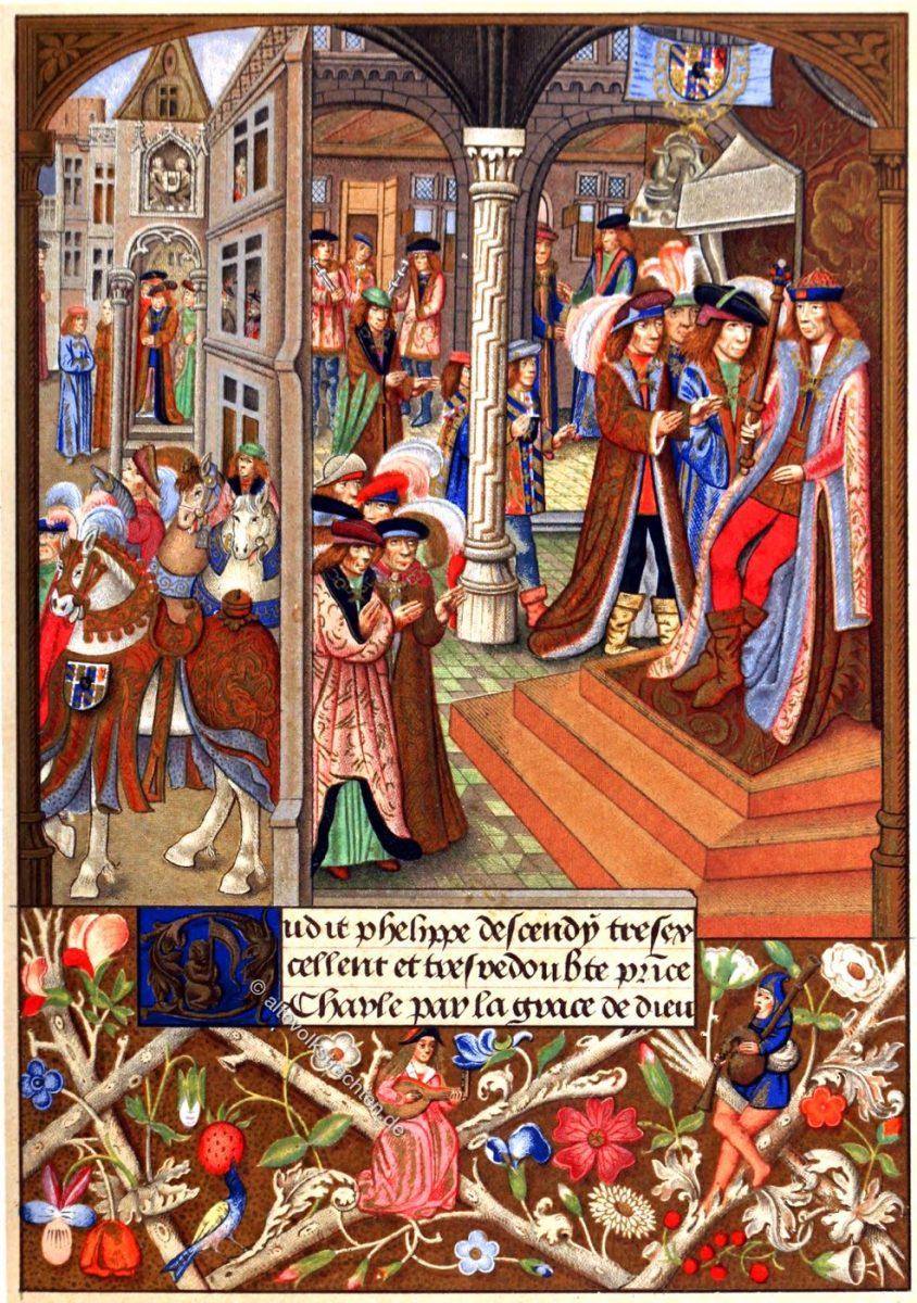 Karl, Herzog, Burgund, Mittelalter, Mode,