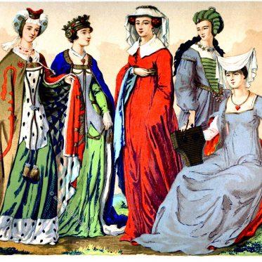 Englische Edeldamen des 15. und 16. Jahrhunderts.