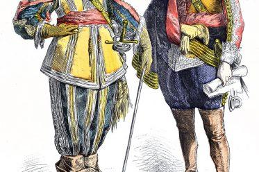 Münchener Bilderbogen, Mode, Edelleute, Barock, dreißigjähriger Krieg, Kostüme,