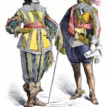 Edelleute (1625-1640) zur Zeit des dreißgjährigen Krieges.