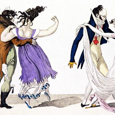 Le Bon Genre. Der Walzer 1801. Mode des Empire.