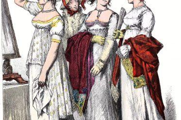 Empire, Regency, Mode, Kostüme, Costume, Münchener Bilderbogen