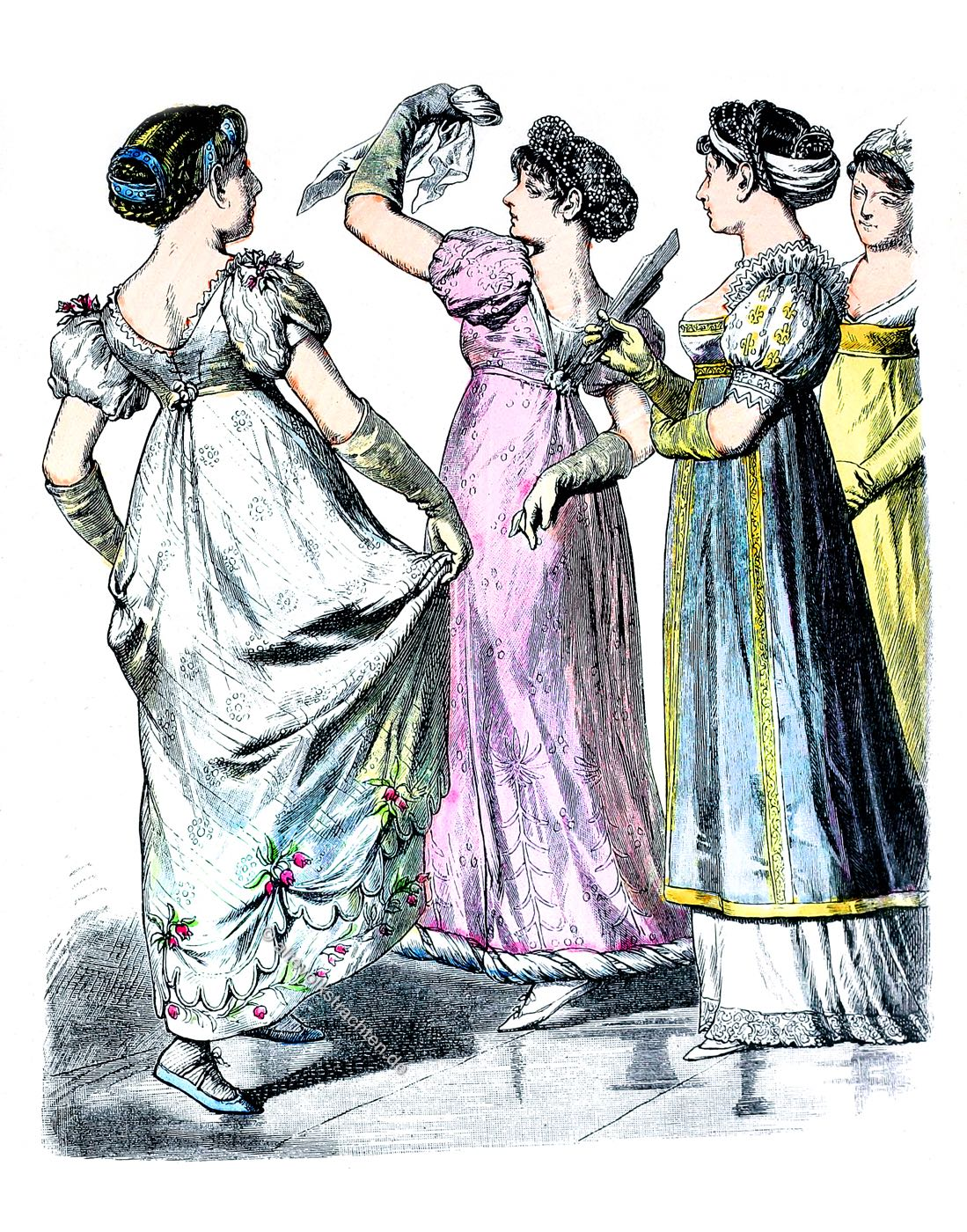Empire, Regency, Trachten, Mode, Kostüme, Costume, Münchener Bilderbogen