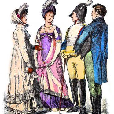 Deutsche und französische Mode 1809-1812.