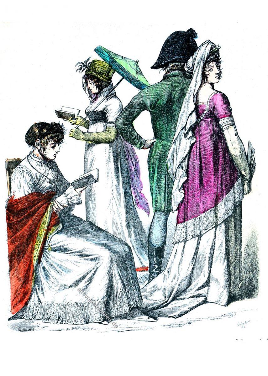 Deutsche und französische Kostüme des Empire 1802-1804.
