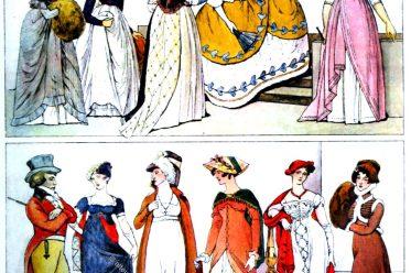 England, Regency, Mode, Kostüme