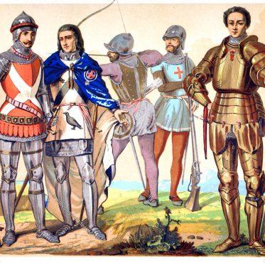 Englische Kriegstrachten des 15. und 16. Jahrhunderts