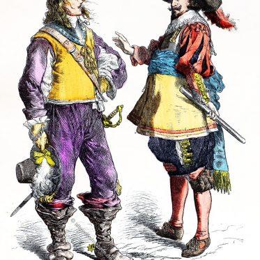 Englische Tracht 1638-1640. Flamänder (1640-1650).
