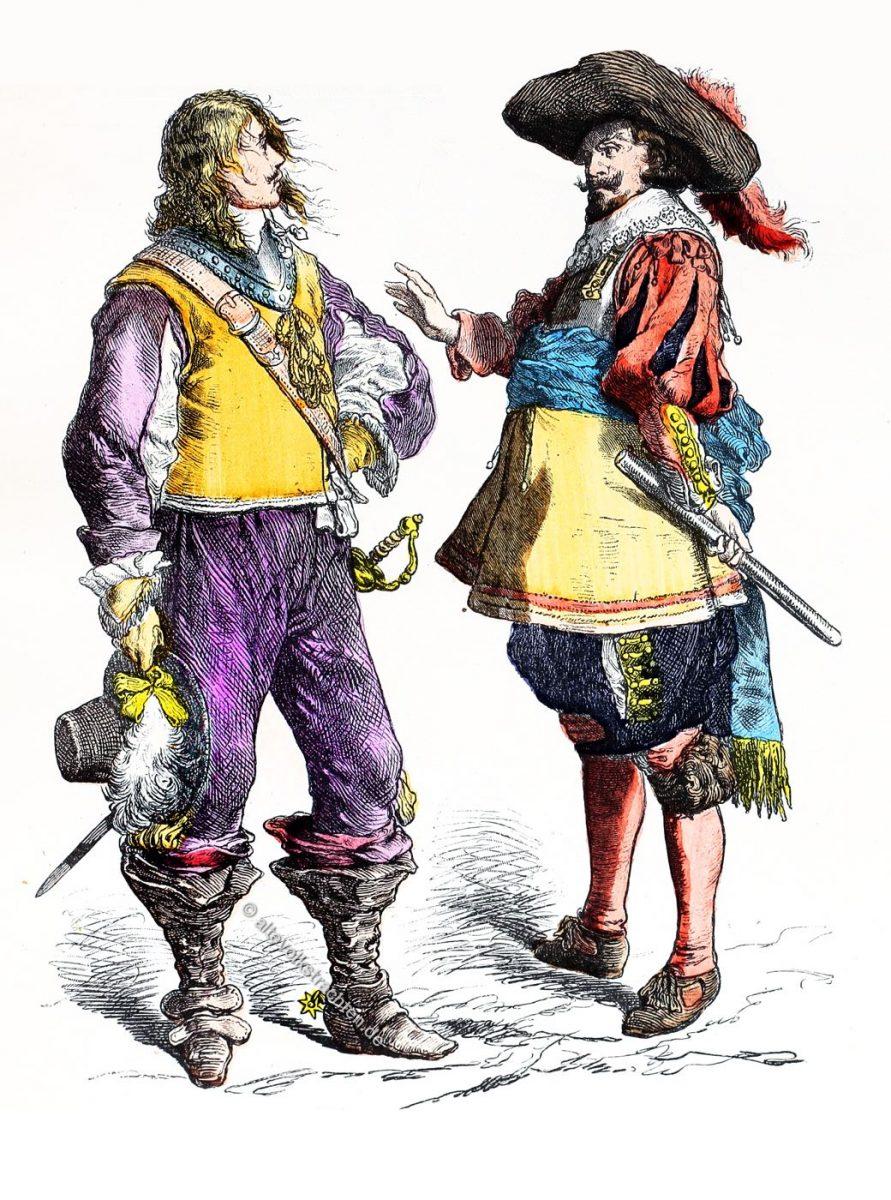 Münchener Bilderbogen, Flamänder, Belgier, Engländer, Mode, Kostüme, Barock, 17. Jahrhundert, dreissigjähriger Krieg,