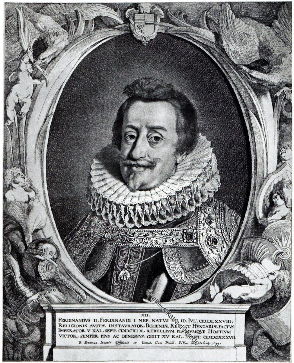 Ferdinand II, Deutscher Kaiser, Barock, Dreissigjähriger Krieg, Kostüm, Portrait, Sompel, Soutmann