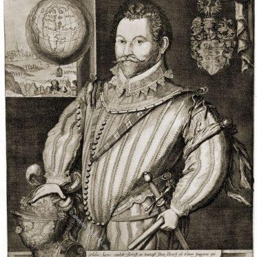 Sir Francis Drake, englischer Seemann. 16. Jd.