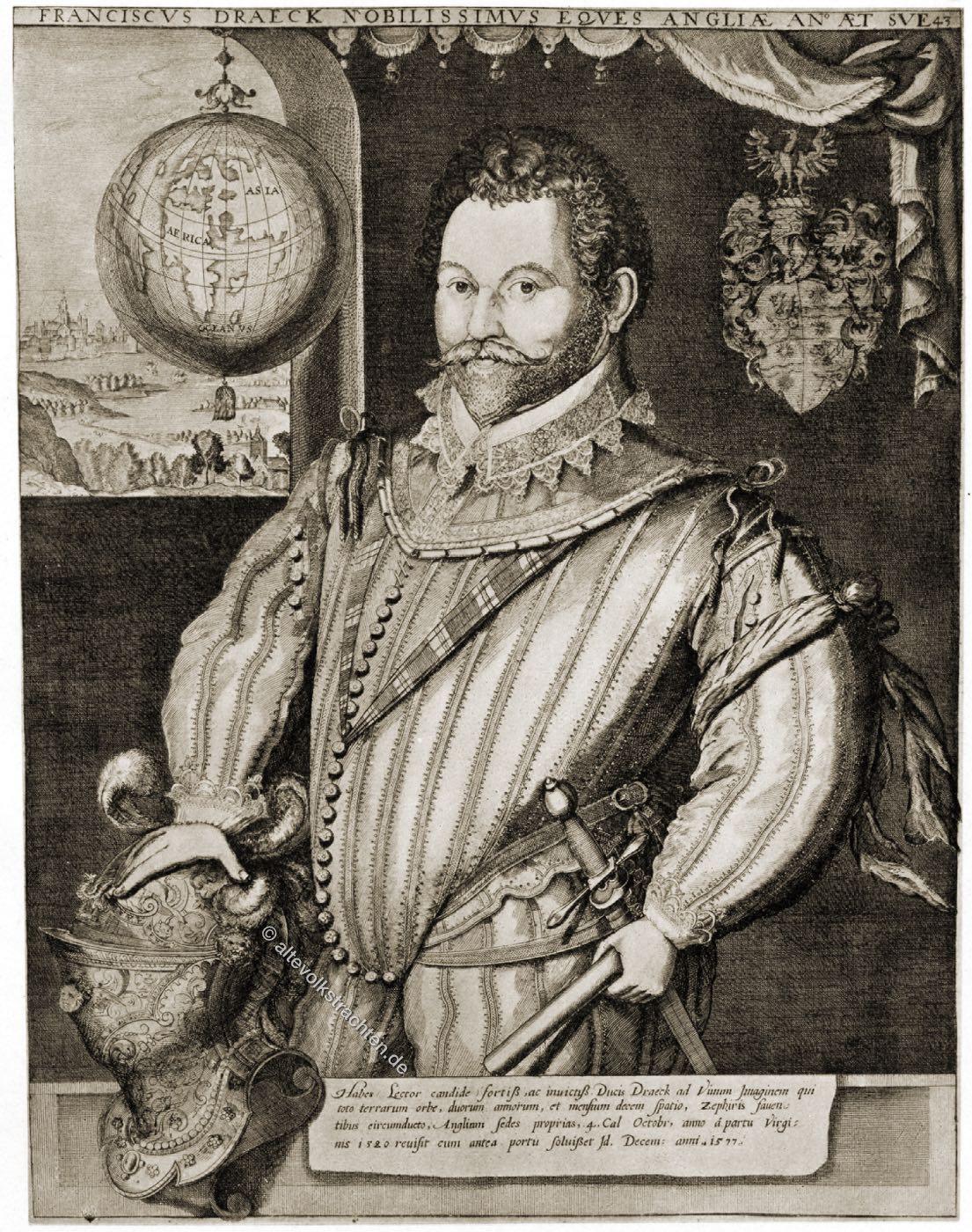 Sir, Francis, Drake, Tudor, Mode, England, Seemann, Renaissance, Freibeuter, Pirat