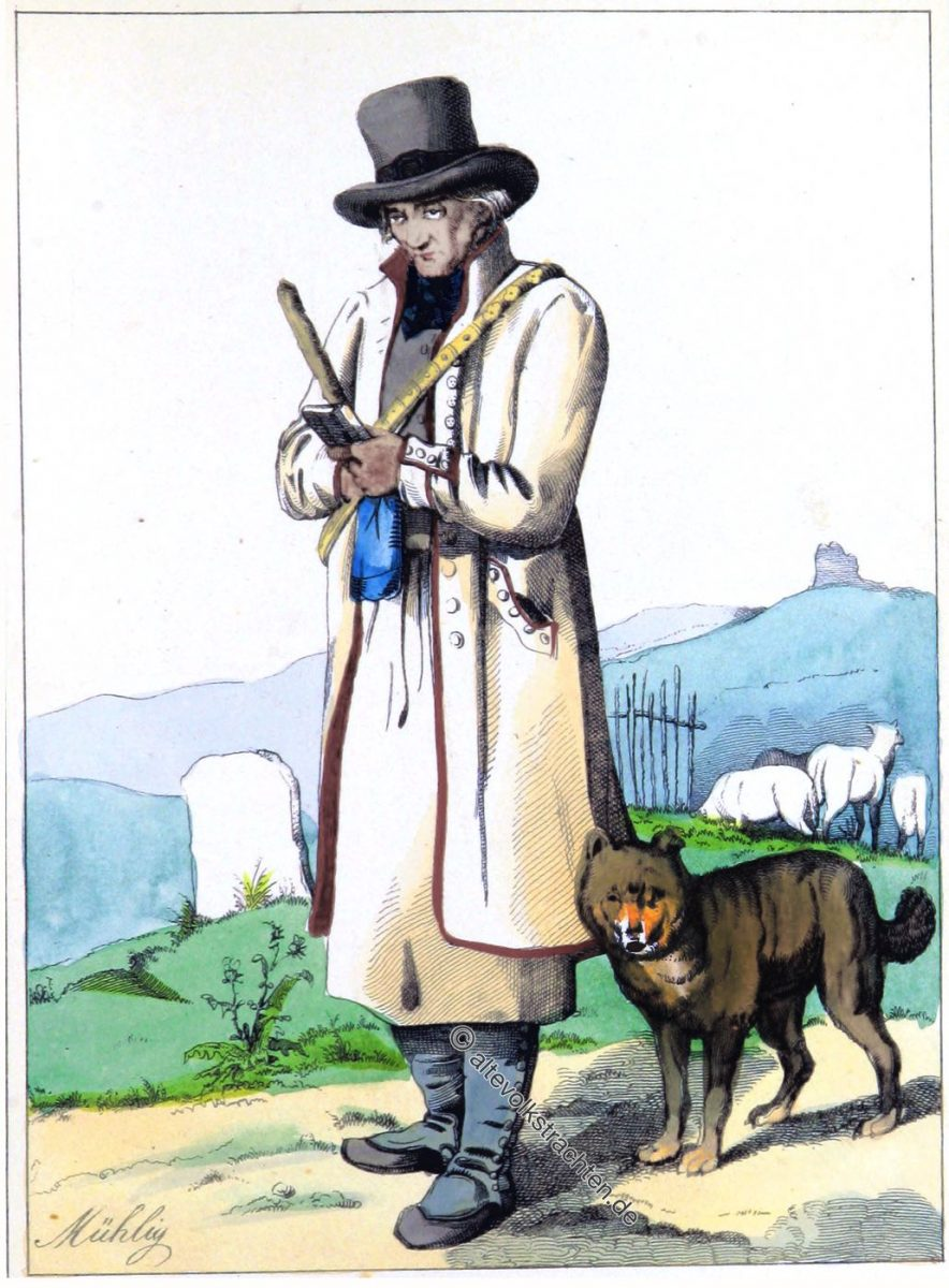 Schäfer, Göttingen, Historische Trachten, Eduard Duller, Hessen, Tracht