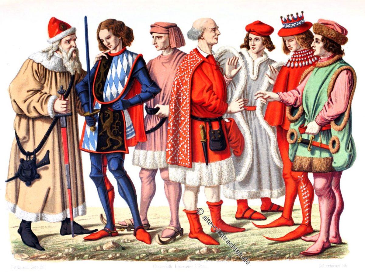Kostüme verschiedener Herzöge von Bayern.