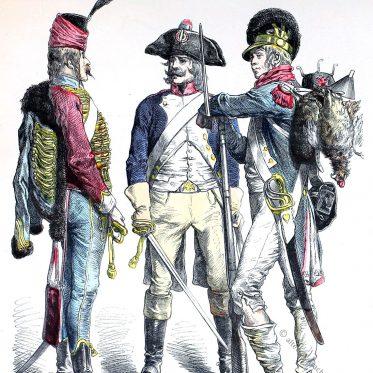 Französische Republik Uniformen.