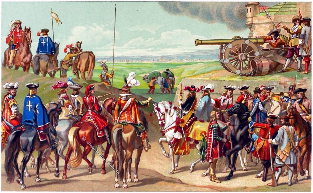 Kostüme, Uniformen, Soldaten, Frankreich, 17. Jahrhundert, Barock, Louis XIII, Louis XVI,