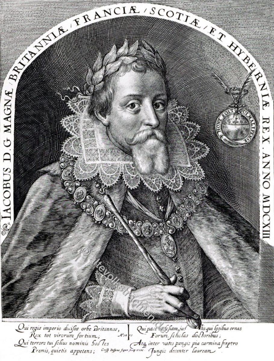 Jacob I, König, England, Stuart, Portrait, Barock, Dreissigjähriger Krieg