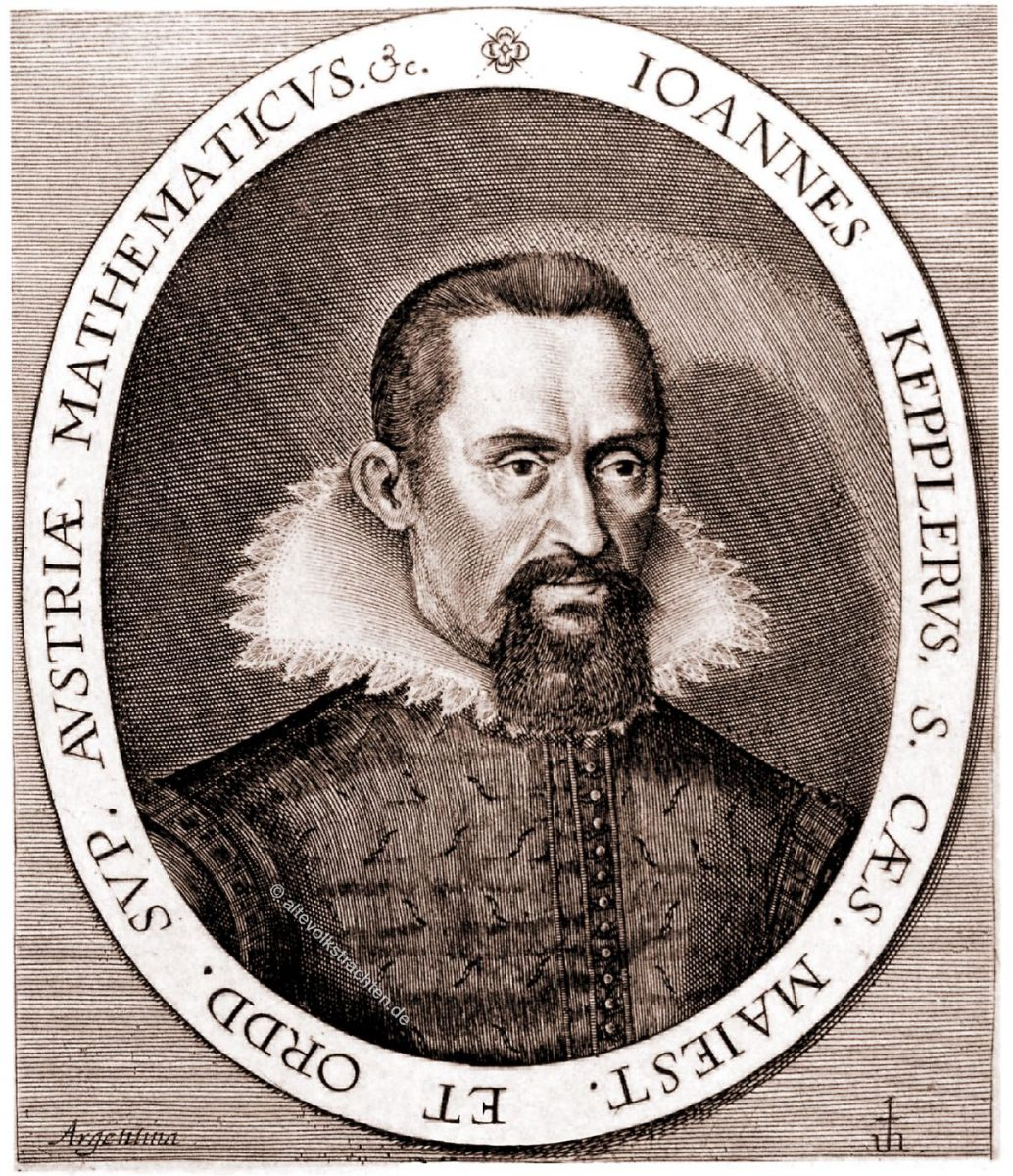 Johannes Kepler. Historisches Portrait. 17. Jahrhundert.