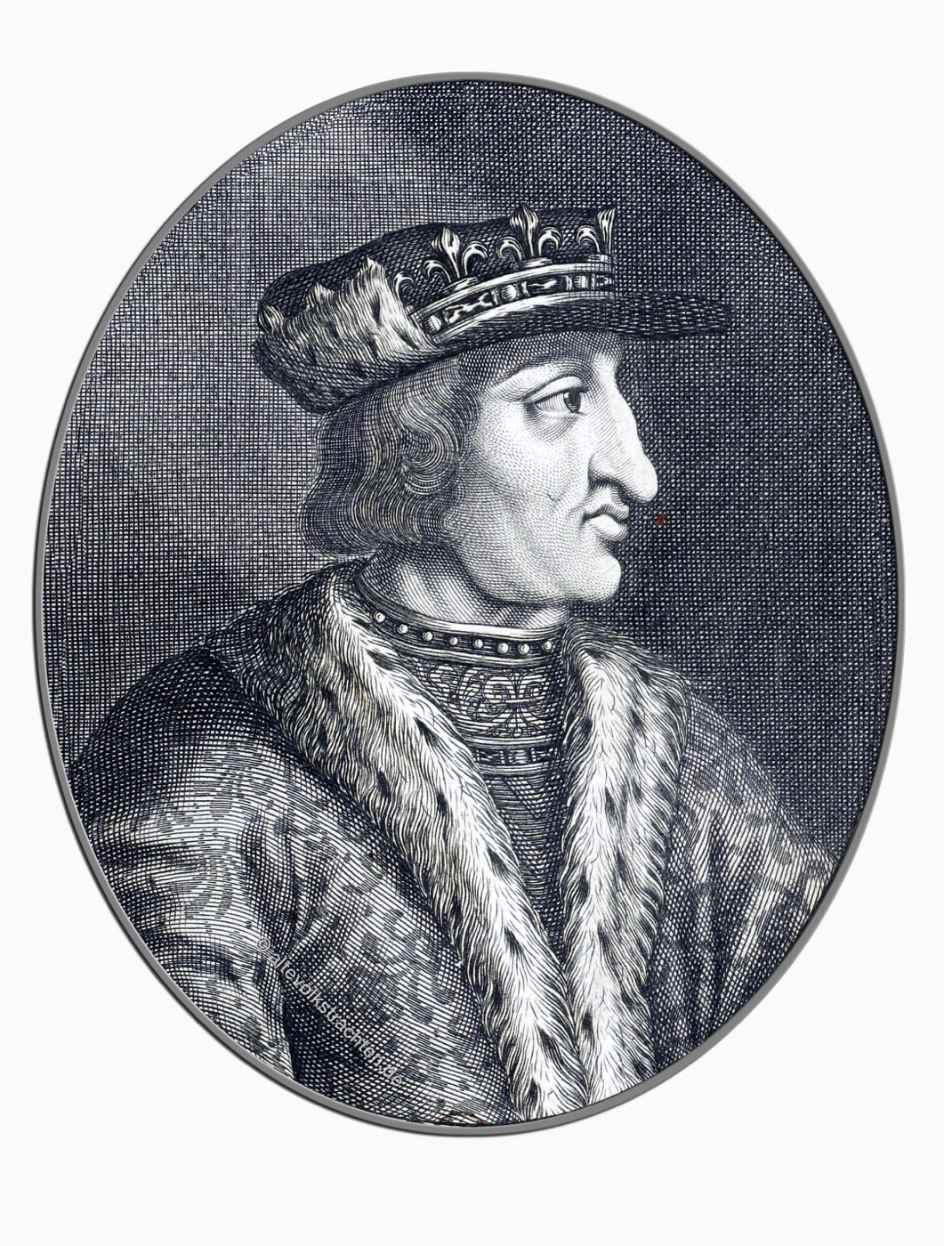 Karl VI, König, Frankreich, Mittelalter, Larmessin, Gotik, Druckgrafik