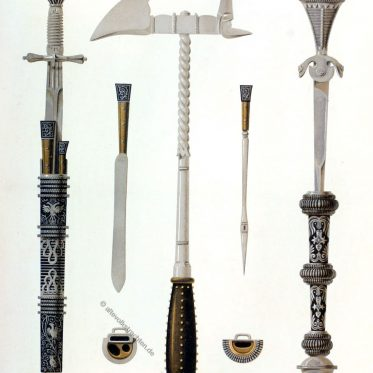Schlagdorn, Kriegshammer, Parierdolch, Waffen, Mittelalter, Bewaffnung, Waffenkammer