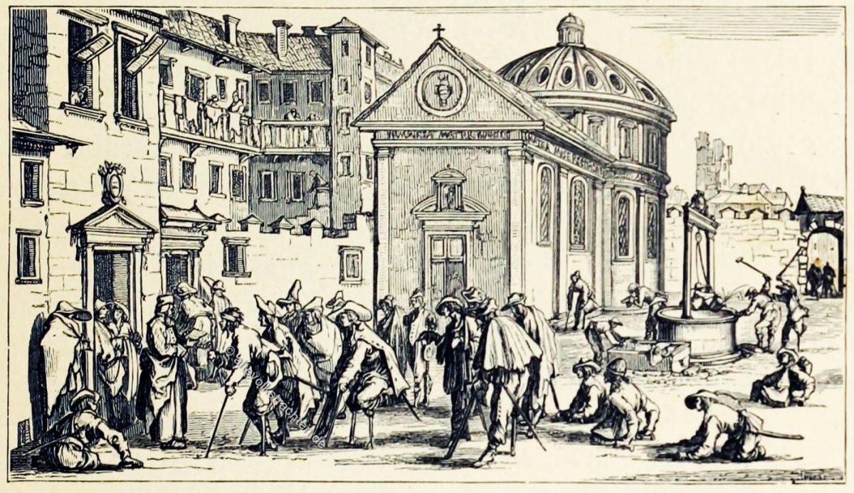 Kriegsversehrte, Soldaten, Ludwig XIII, Jacques Callot, Militär, Frankreich, Barock,
