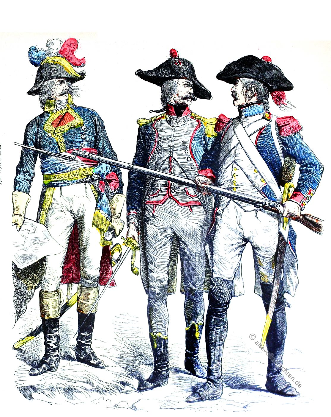 Münchener Bilderbogen, General, Offizier, Linieninfanterie, Leichte Infanterie, Militär, Uniformen, Frankreich, Revolutionsarmee