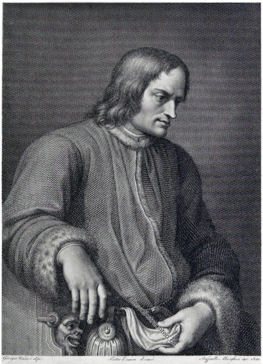 Renaissance Fürst Lorenzo de' Medici, 15. Jh.