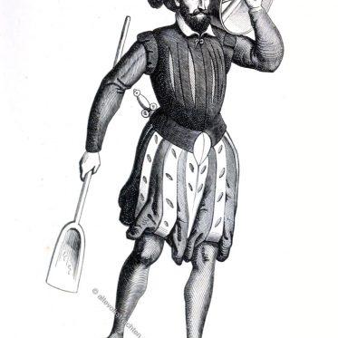 Niederlande. Paradekostüm im Jahre 1568.