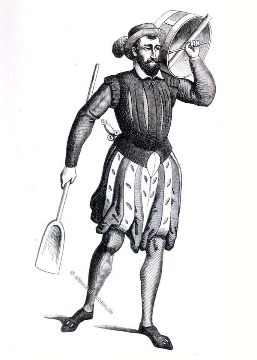 Paradekostüm der Getreidemesser der Stadt Gent, 1568.