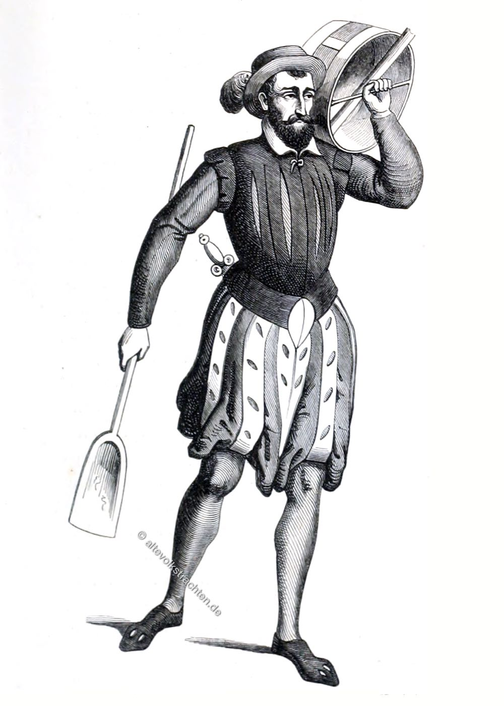 Getreidemesser, Parade, Kostüm, Mittelalter, Holland, Niederlande, Paradekostüm, Gent, 16. Jahrhundert,