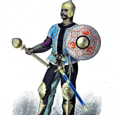 Persischer Heerführer im 15. Jahrhundert.