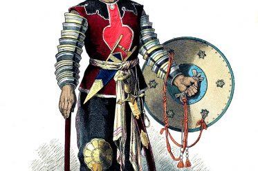 Lipperheide, General, Soldat, Krieger, Streitaxt, Schild, Persien, Mittelalter, persisches Reich