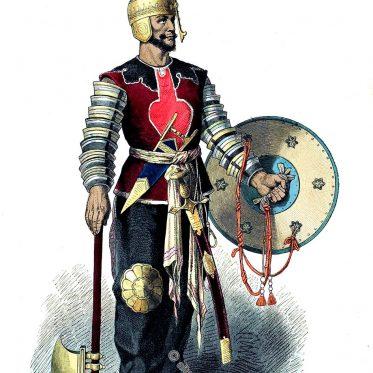 Persischer Krieger des 15. Jahrhunderts.