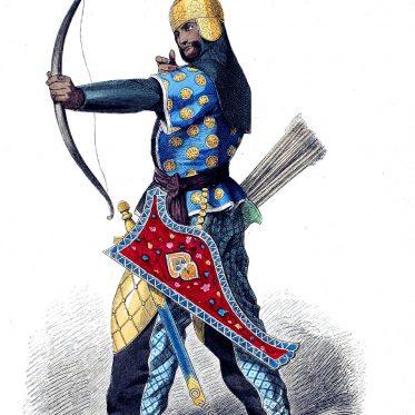 Persischer Bogenschütze im 15. Jh.