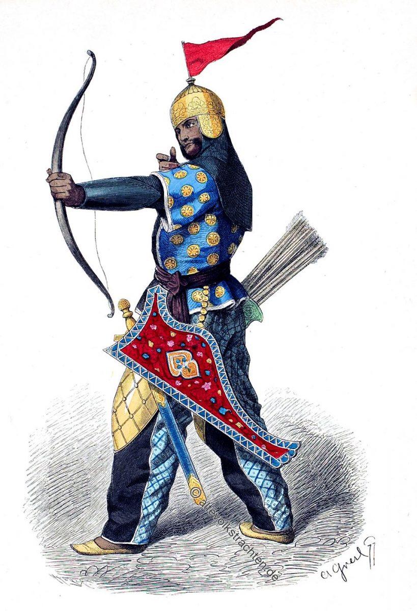 Persischer Bogenschütze im 15. Jahrhundert.