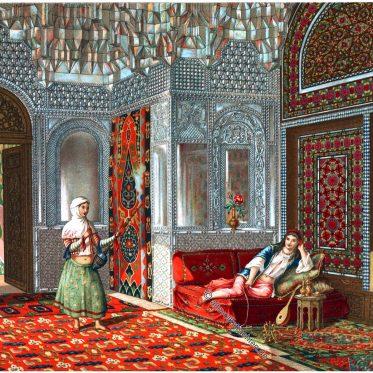 Persisches Zimmer. Talar, Lusthaus.